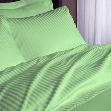 1200Thread Count Egyptian Cotton Sage Striped All Bedding Items US Size