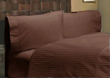All Bedding Items 1000TC 100%Egyptian Cotton Chocolate Striped Select US-Sizes