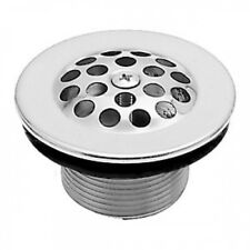Westbrass D3311-F-05 3.5cm . Bath Drain with Grid and Screw - Polished Nickel. S