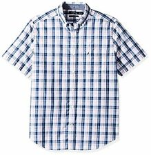 Nautica Men's Big and Tall Short Sleeve Classic Fit Plaid Button Down Shirt