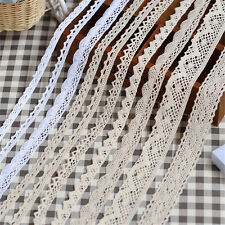 5 Yard DIY Trim Cotton Crocheted Lace Fabric Ribbon Sewing Fabric Handmade Craft