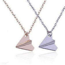 Men 1Pcs Pendant Paper Airplane Necklace One Direction Band Harry Styles Fashion