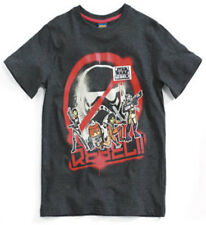 NEW BOYS BLACK OFFICIAL STAR WARS REBEL T-SHIRT age : 7/8 & 9/10 bnwt