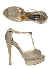 Womens New Gold Dorothy Perkins Platform High Heel Occasion Party Shoes UK 5-6