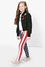 Boohoo Womens Girls Stars And Stripes Leggings