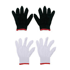 12 Pairs Nylon Safety Coating Work Gloves Builders Grip Protect S M L Cool FY