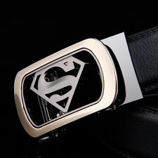 Fashion Casual New Genuine Leather Automatic Buckle Mens Belt Waistband Strap