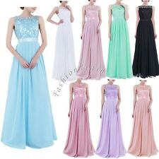 Bridesmaid Chiffon Womens Long Dress Prom Evening Party Ball Cocktail Maxi Dress