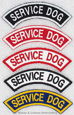 1 SERVICE DOG ROCKER PATCH RR Danny & LuAnns Embroidery      assistance