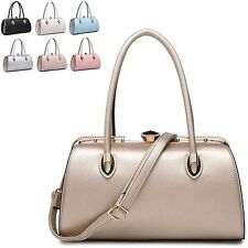 Ladies Stylish Fx Leather Diamante Barrel Bag Handbag Shoulder Grab Bag MA34715