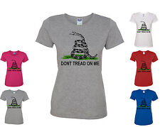 Don't Tread On Me Women's T-Shirt Patriotic Shirt Gadsden Flag American Flag