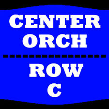 2 TIX JAY LENO 10/28 ORCH CENTER ROW C PARAMOUNT THEATRE DENVER