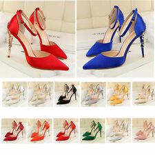 New Women High Heels Shoes Sexy Ankle Buckle Stilettos Pointed-toe Pump Sandals