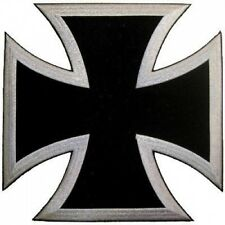 BACK PATCH BLACK CHOPPER IRON CROSS For Biker Vest!!. Brand New