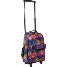 Everest Wheeled Pattern Backpack 2 Colors Wheeled Backpack NEW