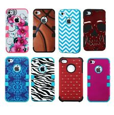 Apple iPhone 4 4s Hard Rugged Cute Protective Cover Case