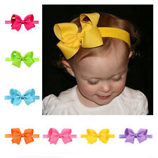 Flower Elastic Band Headband 1Pcs Bow Soft knot Hairband Baby Hair Accessories