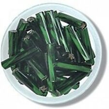 Impex Twisted Glass Bugle Beads 20g - Green. Huge Saving