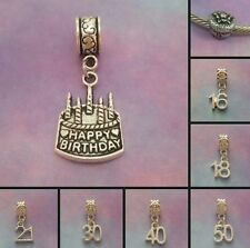 ~ Birthday/Age Charms ~ 99p Each ~ Buy 4 Get 1 Free ~ Organza Gift Bag ~