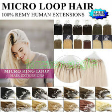 Ombre Balayage DIY Micro Ring Beads Loop Tipped Remy Human Hair Extensions Style