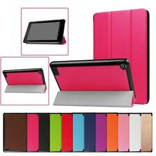 Folding Stand Leather Case Cover For Amazon Kindle Fire 7 2017 Tablet Protector