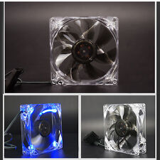 Computer Case Cooler Light Quite Clear 120mm PC Computer Case CPU Cooling Fan Wi