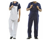 BIB AND BRACE NAVY BLUE AND WHITE OVERALL PAINTERS   COVERAL DUNGAREES
