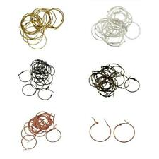 20pcs Gold Silver Plated Beading Hoops Findings Jewelry Making Earrings Hoops