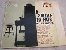 Ralph Sutton - A Salute To Fats (The Music of Fats Waller) Vinyl LP - Harmony -