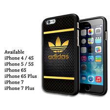 Gold Stripes Adidas  Logo Cover Print On Hard Case For iPhone 6 6plu 7 7plus