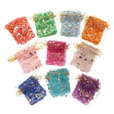 100 pieces Organza Wedding  Favor Gift Candy Bags Jewelry Pouches for Party