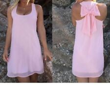 Women Casual Chiffon Material Solid Color Sleeveless Knee Length Dress