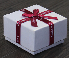 Present Gift Red Bow White Necklace/Earring/Ring Paper Jewelry Box Wholesale :)
