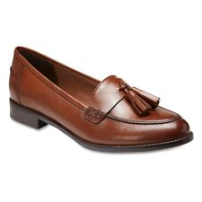 NEW Sandler Rapture Cognac Leather Loafer Style Flat Womens Shoes