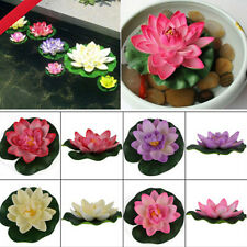 Water Lily Lotus Floating Flower Garden Pool Pond Tank Plant Ornament Beautyful