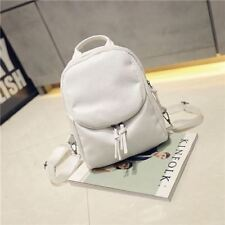 New Fashion Silt Pocket Pu Leather Small Backpack For Teenager Girl