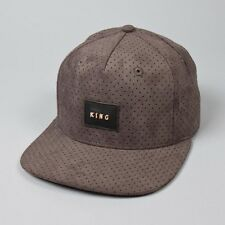 King Apparel Aesthetic Pinch Panel Snapback Cap - Charcoal Grey Suede - NEW 2017