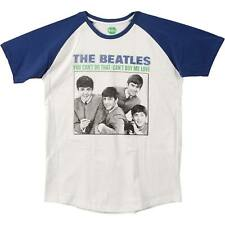 Beatles Men's  You Can't Do That/Can't Buy Me Love T-shirt Blue/White