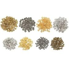 100pcs Metal Wheel Shape Alloy Spacer Beads Findings Tools for Jewelry Making
