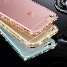 Bling Diamond Ultra Thin Clear Crystal Soft TPU Case Cover For iPhone 6 7 7 Plus