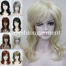 Women Layered wig Ladies Medium Long Natural hair Daily wig cosplay wigs