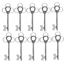 10pcs Vintage Style Key Shaped Jewelry Findings Wedding Favors Silver/Bronze
