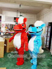 Hot Red Blue horse EPE animal mascot costumes adults outfit halloween party suit