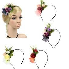 Women Girls Flower Cluster Hair Band Floral Summer Beach Hair Headband