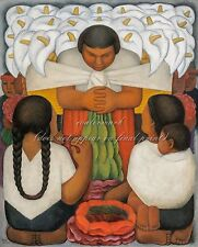 """DIEGO RIVERA Painting Poster or Canvas Print """"Flower Day"""""""