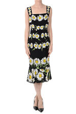 DOLCE&GABBANA New woman Printed Stretch Silk Dress Made in Italy NWT