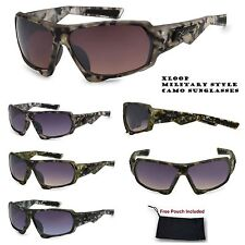 Mens Xloop Military Army Hardcore Camouflage Camo Wrap Sports Hunting Sunglasses
