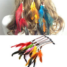Fashion Headdress Indian Feather Hair Ornaments Clip Feathers Tassel HairPieceBH