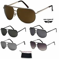Unisex Air Force Retro Classic Aviator Pilot Double Cross Bar Frame Sunglasses
