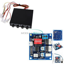 "12V PWM 4 Channel 3.5"" PC CPU Fan Temperature Control Speed Controller Module"